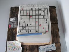 Sudoku cake! Sudoku, Novelty Cakes, Cake Art, Amazing Cakes, Fondant, Projects To Try, Fun, Birthday Cakes, Books
