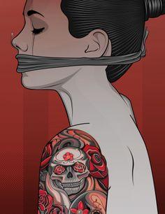 Printers Devil - Alternative Pop-Art by Matt Edwards, via Behance