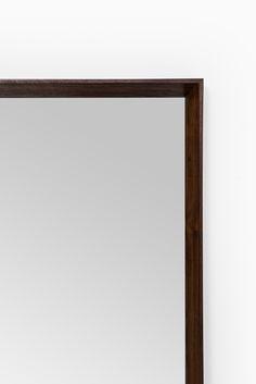 Rosewood mirror produced in Denmark at Studio Schalling