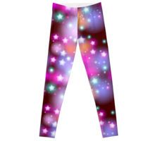 'Neon Stars on Purple' Greeting Card by EkaterinaP Gothic Leggings, Star Sky, Night Skies, Greeting Cards, Neon, Trends, Trending Outfits, Purple, Gifts