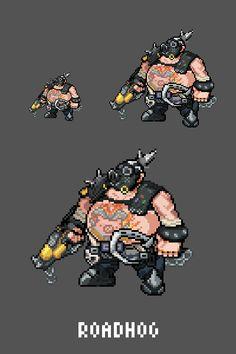 [Pixel Art] - Roadhog / Mako Rutledge Overwatch Sprites Twitter:  pic.twitter.com/oFKvdCU5WL