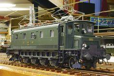 SBB Ae4/7(No.10955) [国]スイス[ゲ]1 1930年代のスイスの電気機関車。ブッフリー式という駆動装置が搭載されている。原信太郎はこの駆動装置を世界で初めて模型で実現し、同形式を Electric Locomotive, Steam Locomotive, Swiss Railways, Electric Train, Train Engines, Train Car, Model Trains, Locs, Transformers
