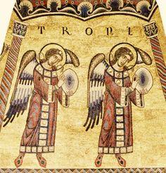 """Mosaïques du Baptistère. La hiérarchie des anges. 18. Les """"trones"""""""