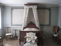 """The lady's bedroom at Skogaholms herrgård (Skogaholm Manor), Skansen open air museum, Stockholm."""