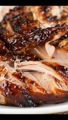 Crockpot Brown Sugar Balsamic Glazed Pork Tenderloin - maybe I should learn to cook - Rabbit Recipes Crock Pot Recipes, Recetas Crock Pot, Pork Roast Recipes, Crockpot Dishes, Pork Dishes, Cooking Recipes, Potatoes Crockpot, Slow Cooker Pork Roast, Game Recipes