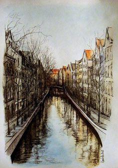 cityscape - Amsterdam by Anastasia Kulakova