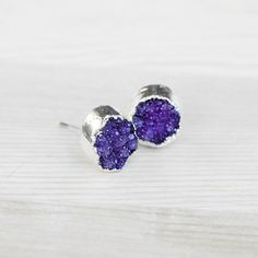 Amethyst Geode Studs now featured on Fab.