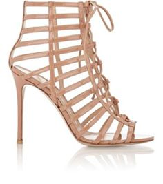 Gianvito Rossi Caged Lace-Up Sandals at Barneys New York
