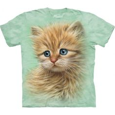 From the brand The Mountain comes the cute and lovely 'Kitten Portrait T-Shirt'. This amazing shirt was designed by the artist Greg Giordano for all the kitty lovers out there. This kitty will draw the attention of your friends and relatives. The pseudo 3D t-shirt is a cool and unforgettable gift for all. Made from the highest quality materials, this tee is bound to become a favorite item in your wardrobe! Shop now at the clothingmonster.com!