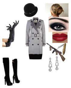 """""""female 1920s gangster"""" by phoebecoffs-1 on Polyvore featuring art"""