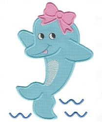 Girl Dolphin Applique - 3 Sizes! | What's New | Machine Embroidery Designs | SWAKembroidery.com Applique for Kids