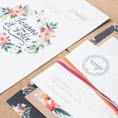 faire part de mariage champetre Monkey Choo / wedding invitation