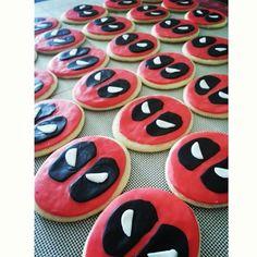 Deadpool fondant cookies from Candy Ramirez. @candyscakesandmore