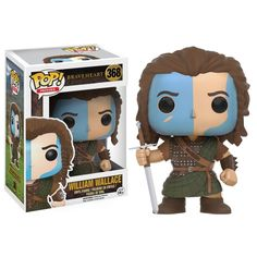 Funko Pop! Braveheart William Wallace William Wallace, el libertador de Escocia con sus colores de guerra, preparado para enfrentarse a los Ingleses.