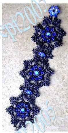 BRACELET BLUE ICE  DE DÉLIC'ART  *This would be GORgeous in cream with clear crystals for Winter