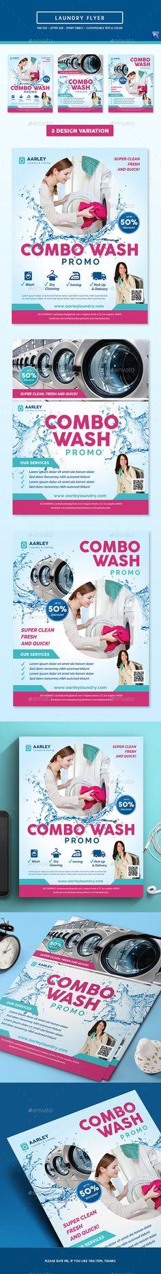 Laundry Flyer Template PSD. Download here: https://graphicriver.net/item/laundry-flyer/17532921?ref=ksioks