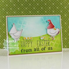 Craftybit: Cluckers Wishing you a Happy Easter