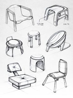 22 Ideas For Furniture Sketch Design Drawing Behance Industrial Design Furniture, Industrial Design Sketch, Industrial Interiors, Furniture Design, Industrial Closet, Industrial Cafe, Industrial Apartment, Furniture Layout, Industrial Restaurant