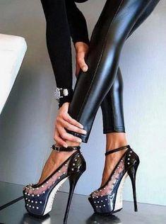 fb167b5cad4 Rivets Ankle Strap Women Fashion Peep Toe Sandals High Heels Shoes   Platformhighheels
