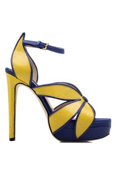 Chrissie Morris... Mustard and Navy Shoes!!!