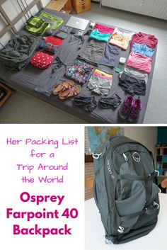 I'm on a trip around the world with only my Osprey Farpoint 40 Backpack as carry-on. Check out my packing list on wandering.world/...