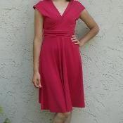 Kostenlose Nähanleitung für ein Kleid, Damenkleid, für Frauen / Free tutorial and pattern for a women's dress