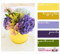 . color palettes, color combos, happy colors, sweet color, happi color, flower, color inspir