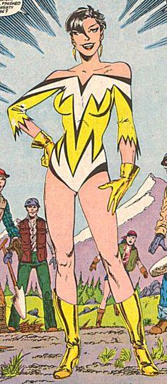 Laurie Handlers as Superhero Goddess