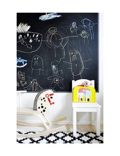 Children's room - Quick tips: Paint a wall with chalkboard paint - La Petite Magazine