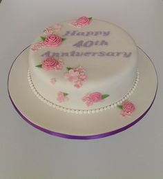 40th Anniversary Cake 40th Anniversary Cakes, Lane Cake, Desserts, Food, Tailgate Desserts, Dessert, Postres, Deserts, Meals