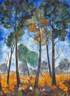 Natalia Goncharova (1881-1962), Russia. Autumn Landscape