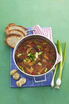 Skvělý recept na: Houbový guláš Chana Masala, Food Styling, Beef, Ethnic Recipes, Meat, Ox, Ground Beef, Steak