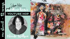 1 stencil 12 ways - youtube hop - nicole watson art Shawn Petite Leaves Stencil