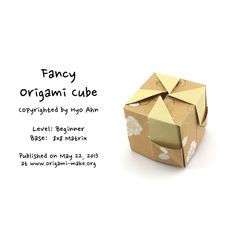 Introducing a Fancy Origami Cube Origami Cube, Origami Design, Paper Crafts, Fancy, Activities, Learning, Simple, Art, Crates