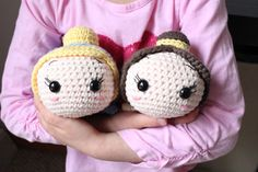 PATTERN 2-PACK: Cinderella and Belle Tsum Tsum Crochet Amigurumi Dolls