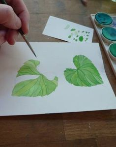 how to paint a leaf with watercolor