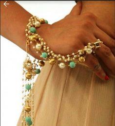 Pearl Handcuff Bracelet Chain | Shopo.in