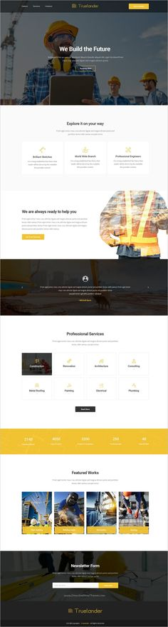 Truelander is a wonderful collection of 15 #PSD template for stunning #construction #company landing page websites download now➩ https://themeforest.net/item/truelander-multipurpose-psd-landing-pages-kit/19191158?ref=Datasata