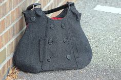 Good Ideas For You | Bags & Purses ~ Repurposed coat / jacket into a handbag...  lovely!