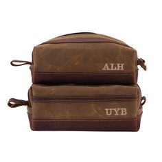 Wax Canvas Dopp Kit Toiletry Bag Groomsmen Gift Toiletry Bag with Monogram Mens  Toiletry Bag Canvas 22d88d5e93a31