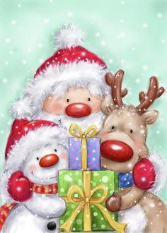 Christmas Scenes, Noel Christmas, Christmas Pictures, Vintage Christmas, Christmas Crafts, Christmas Decorations, Christmas Ornaments, Xmas, Father Christmas