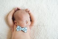 Newborn Boy with Bowtie