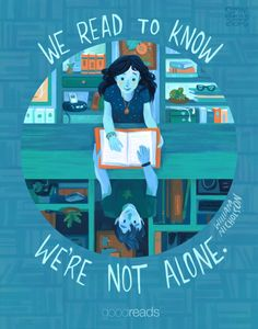 Happy World Book Day! This beautiful illustration is by ! I love her bookish illustrations! It was posted on Goodreads today in celebration for world book day. I Love Books, Good Books, Books To Read, Reading Quotes, Book Quotes, E Book Reader, Monthly Quotes, Life Quotes Love, Truth Quotes
