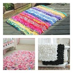 With this craft tutorial, you can make your own DIY Rag Rugs that are perfect for kitchens, bathrooms and children's rooms.