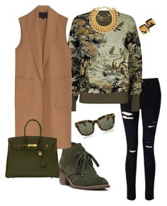 """""""olive"""" by sidne-alexander on Polyvore featuring Miss Selfridge, Burberry, Carlos by Carlos Santana, A.V. Max, Alexander Wang, Hermès and Dsquared2"""