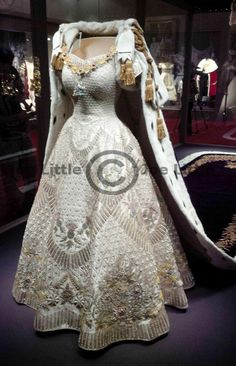 Queen Elizabeth's Coronation Gown - Exhibition opened tomorrow ( 27th July 2013) , Buckingham Palace