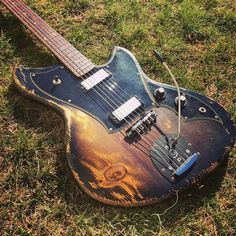 Novo Guitars Black Hole Sun, a Serus J in Trans Black, a striking reclaimed tempered pine body, @lollarpickups Firebirds, and a black @masterybridge bridge and trem