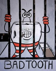 Hey, I found this really awesome Etsy listing at http://www.etsy.com/listing/71101056/bad-tooth-dental-art-anthony-falbo