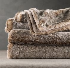 Lynx Faux Fur Throw from Restoration Hardware