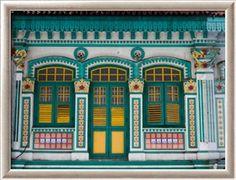 Peranakan terrace house in Little India, Singapore